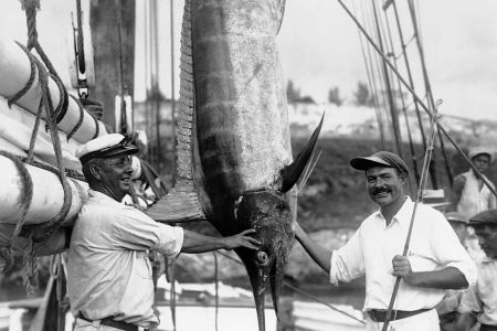Ernest Hemingway with Fisher and Marlin