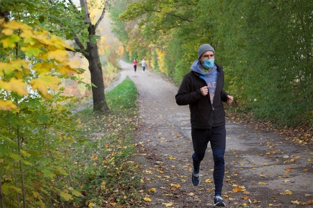 running with mask