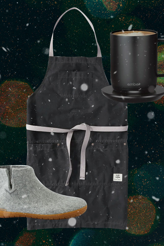 booties, aprons and smart mugs