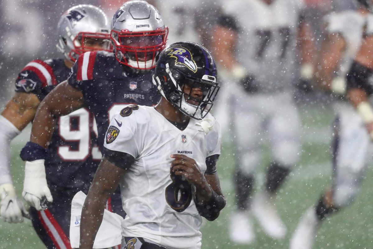 "Patriots Upset Ravens 23-17 in Rain on ""Sunday Night Football"""