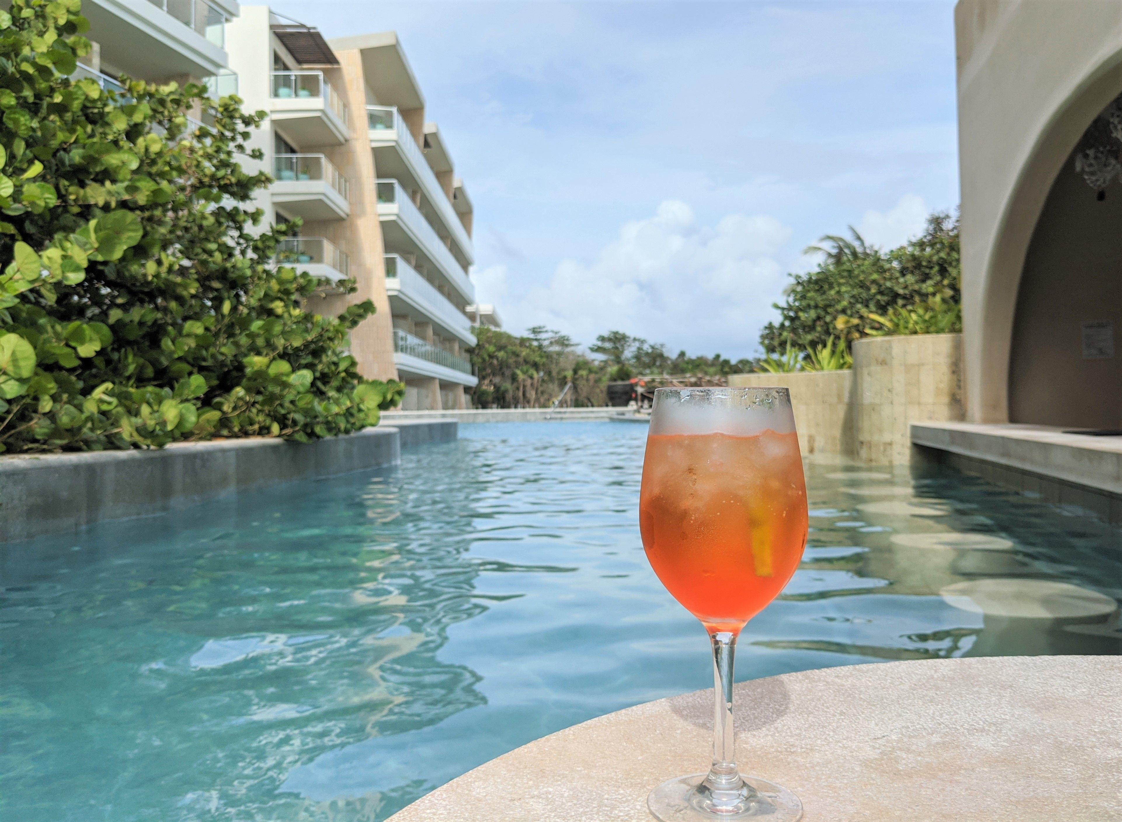 Poolside drink