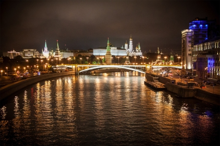 Moscow Russia at night