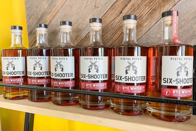 NMSU pistol pete's six shooter whiskey