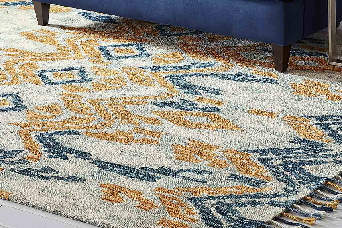 Stone & Beam Modern Global Ikat Wool Area Rug