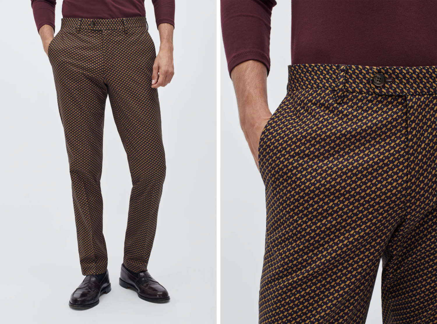 Bonobos Refined Stretch Chinos geo print