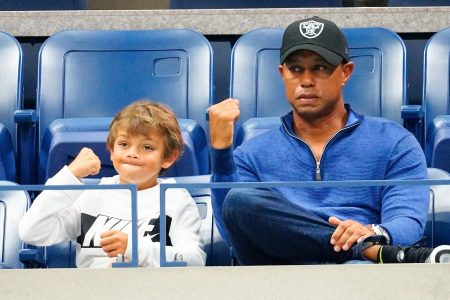 Tiger Woods Playing With Son at PNC Championship