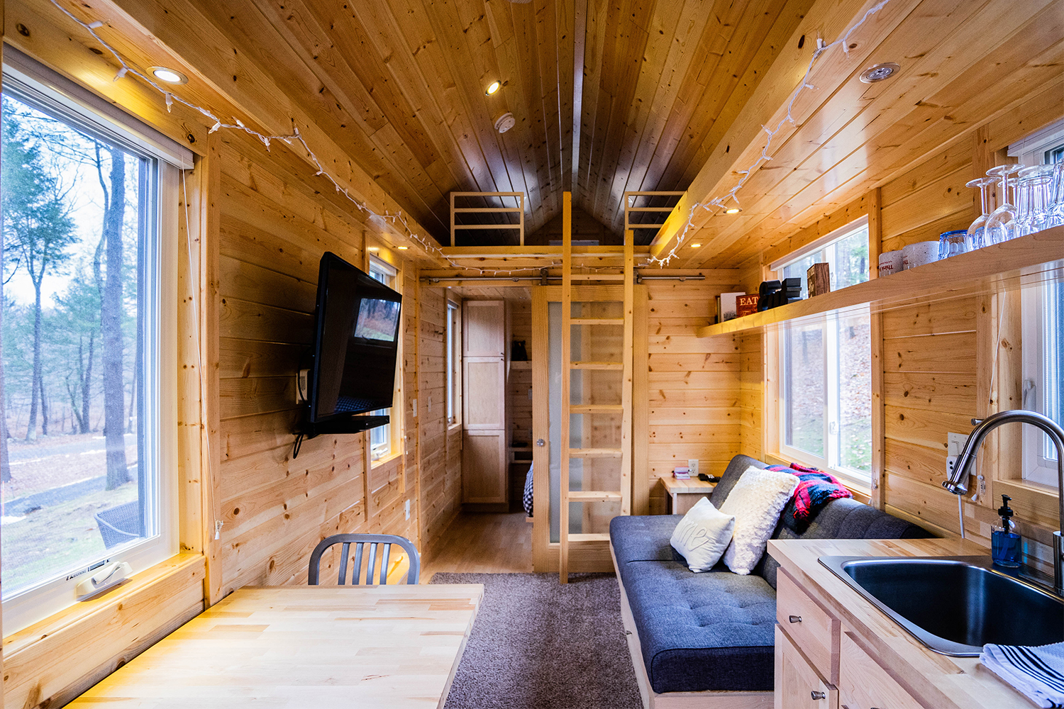 think big! a tiny house resort interior