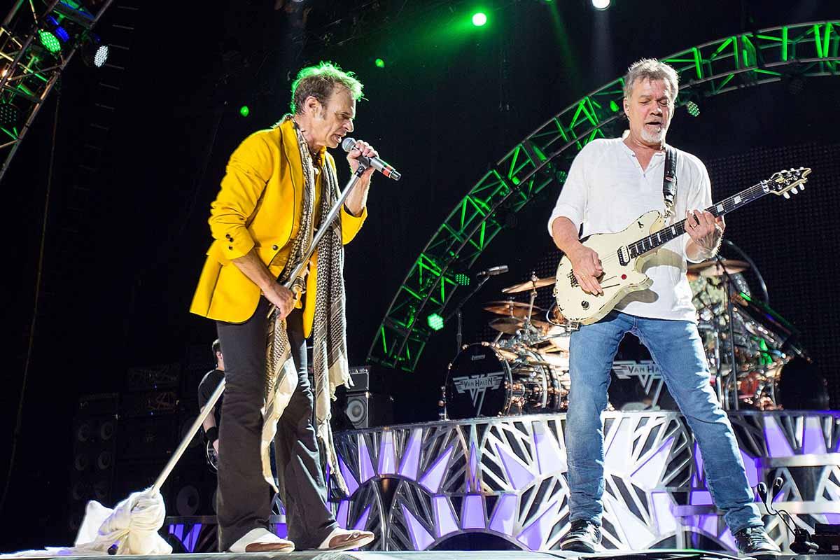 David Lee Roth and Eddie Van Halen during their last concert tour together in 2015