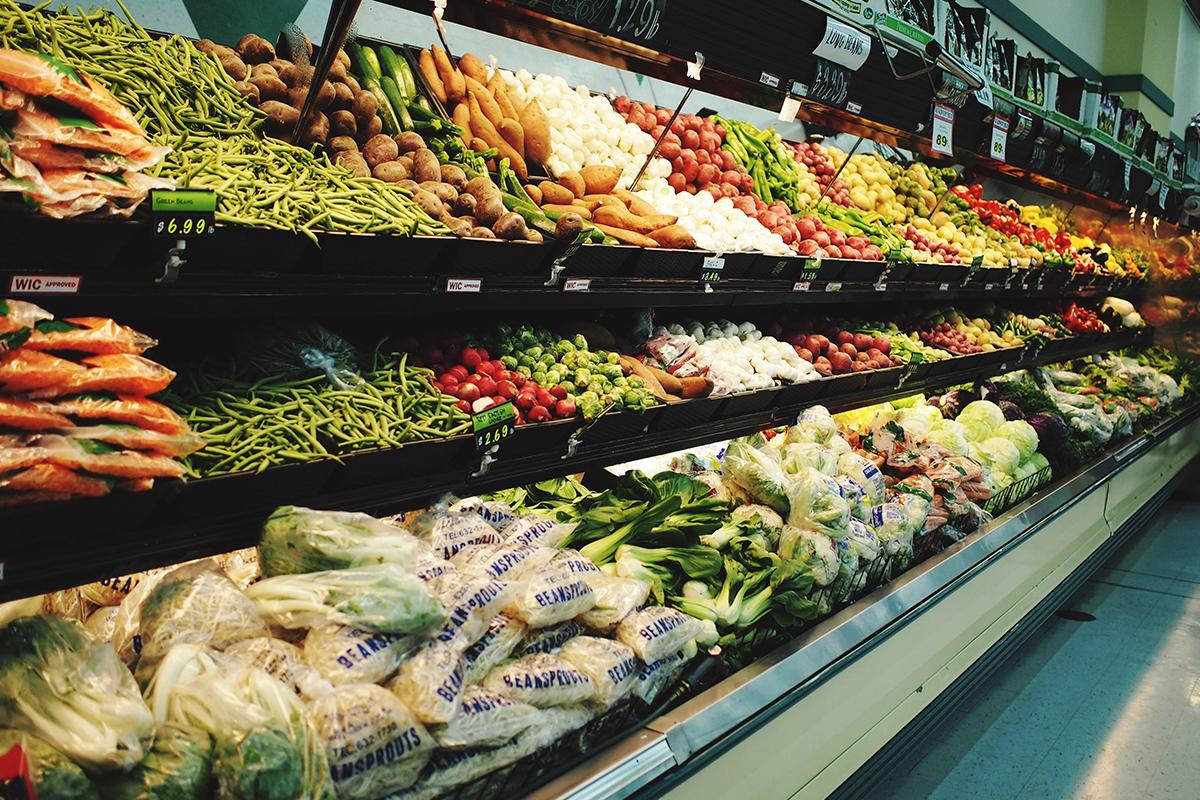 aisle of vegetables