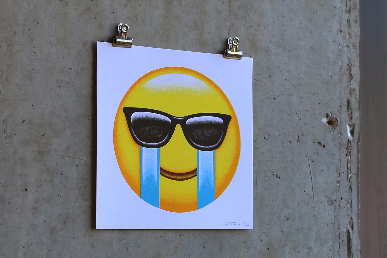 Emoji print numbered and signed by Mr Bingo