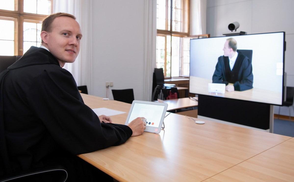 virtual court hearing