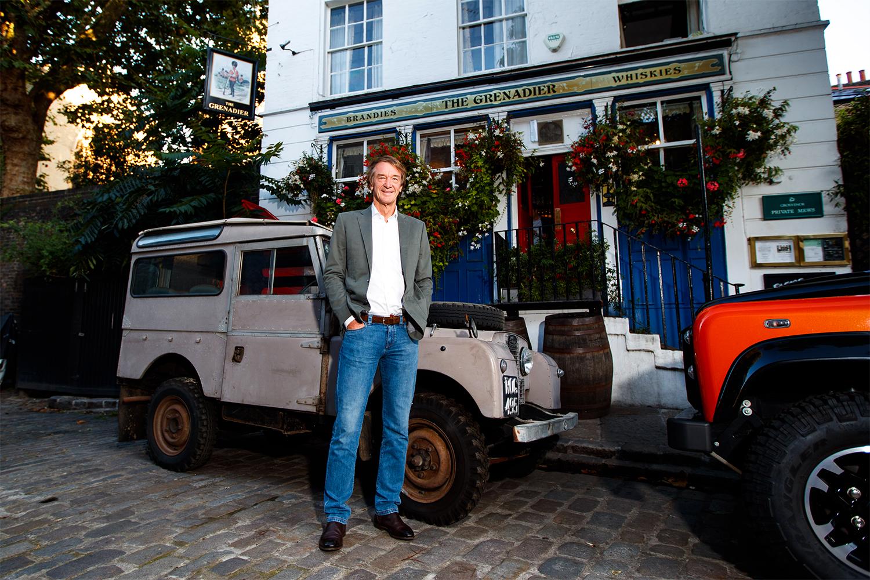 Jim Ratcliffe outside The Grenadier pub
