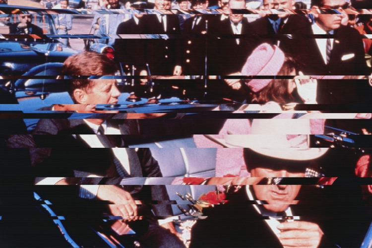 The Kennedy's moments before the President's assassination.