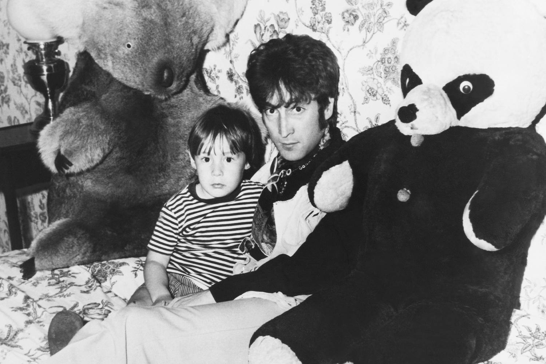Lennon with son Julian