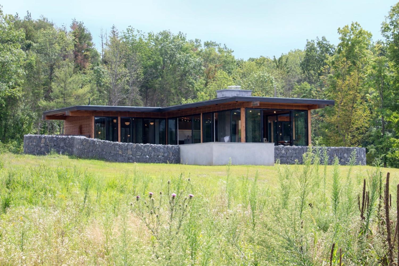 Modern Meets Rustic Pool House