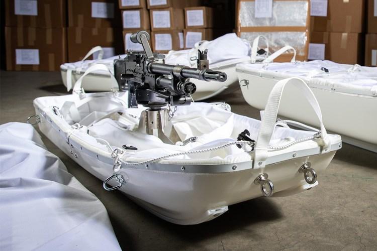 Dutch marines machine gun sleds