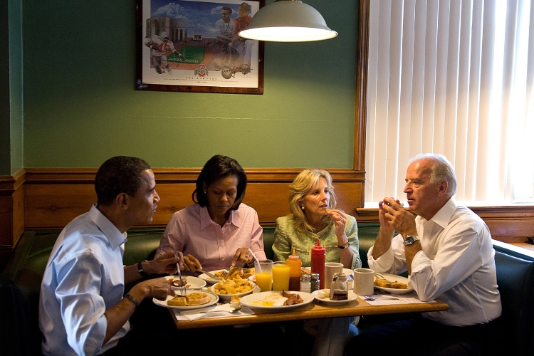 The Obama's and the Biden's out to lunch.