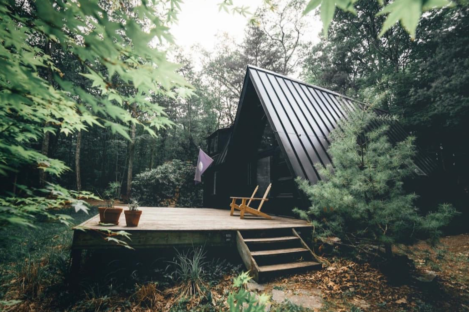 Sustainable Catskills A-Frame Cabin