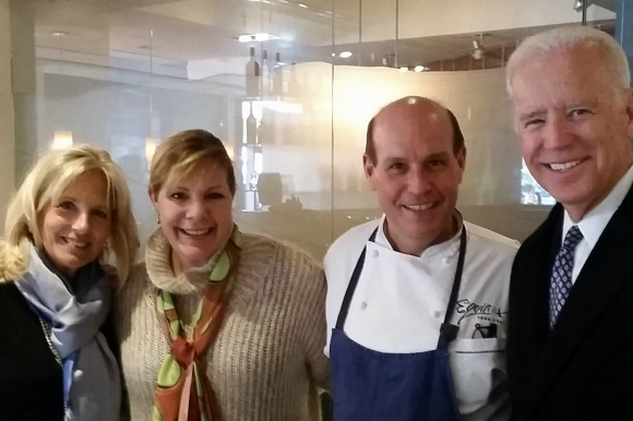 The Biden's with Todd and Ellen Kassoff, the owners of Equinox.