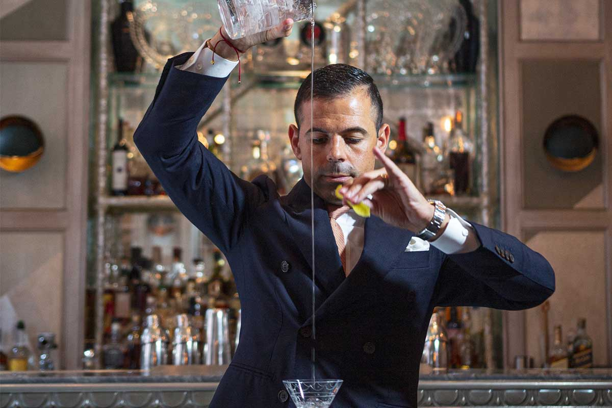 Agostino Peronne, the Connaught bar's Director of Mixology