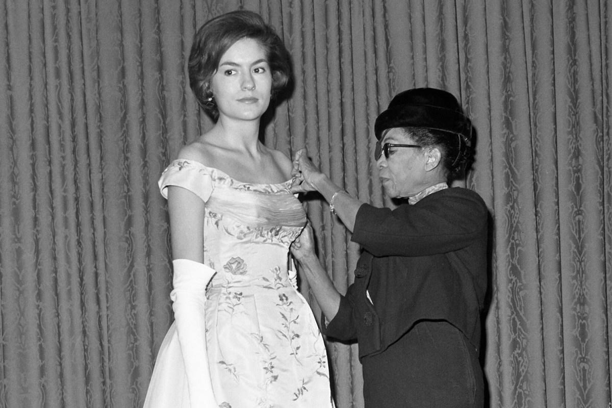 Black designer Ann Lowe wedding dress