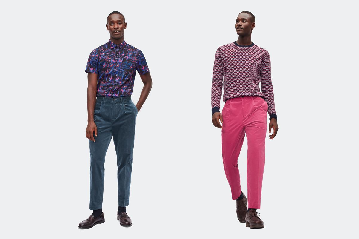 bonobos pleated stretch corduroy trousers