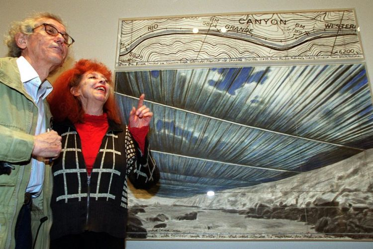 Christo and Jeanne-Claude in 2002