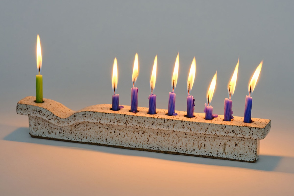 Judaica Standard Time menorah