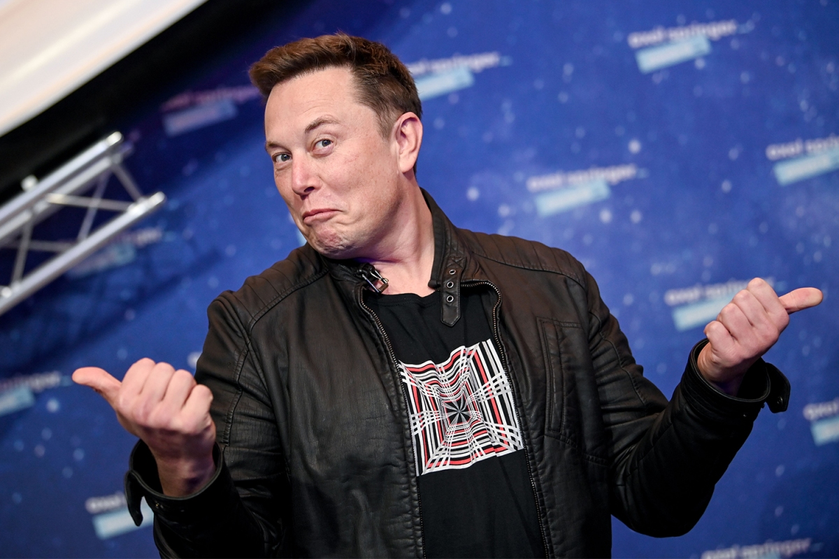 Elon Musk thumbs up