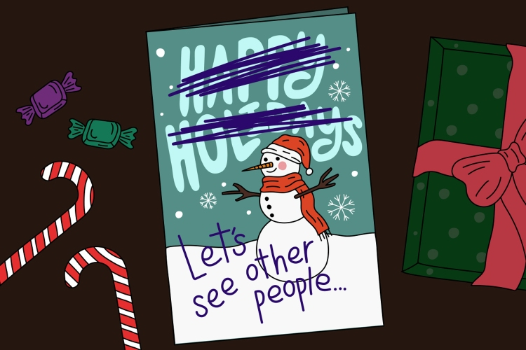 holiday breakup card