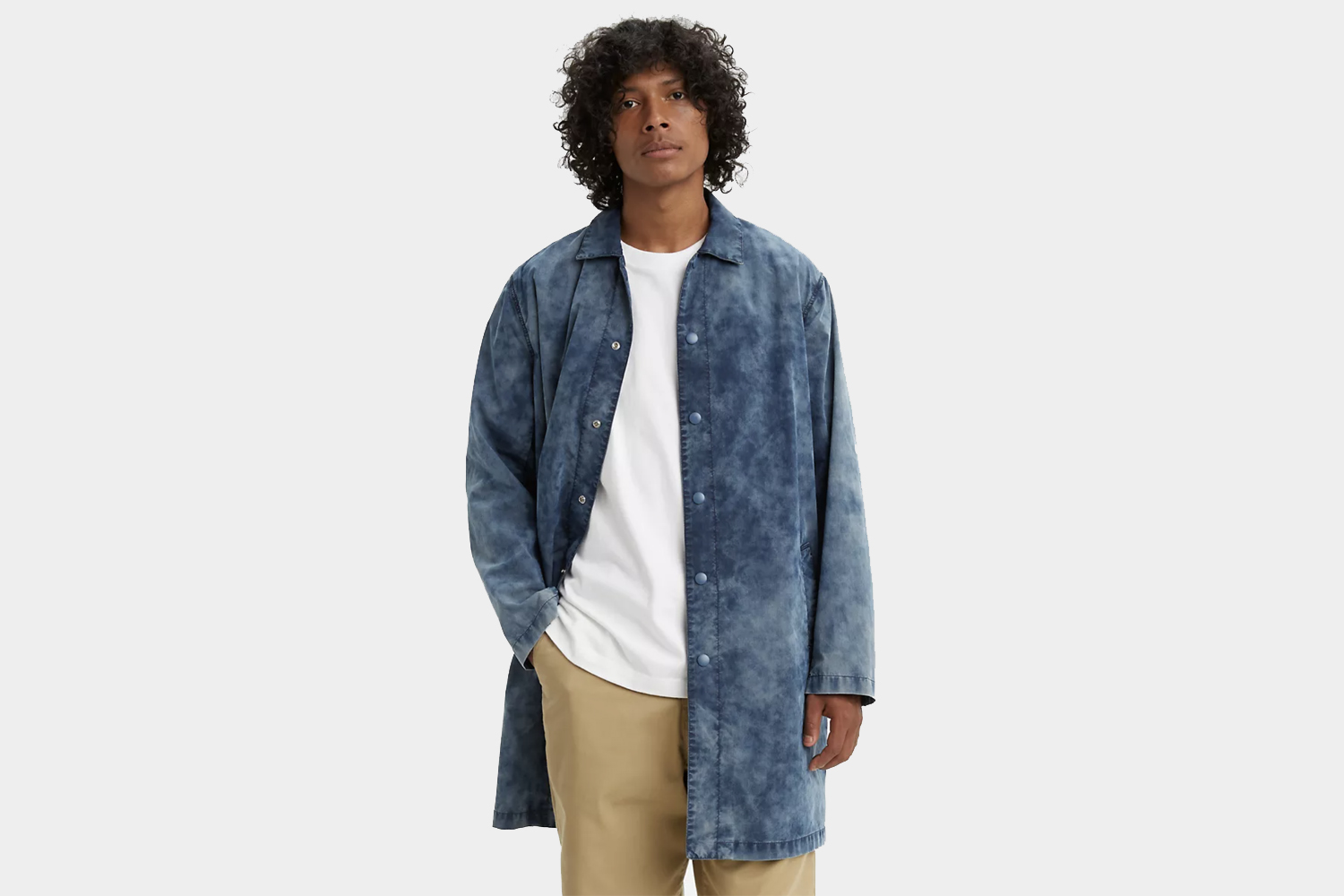levis made and crafted drop shoulder mackintosh