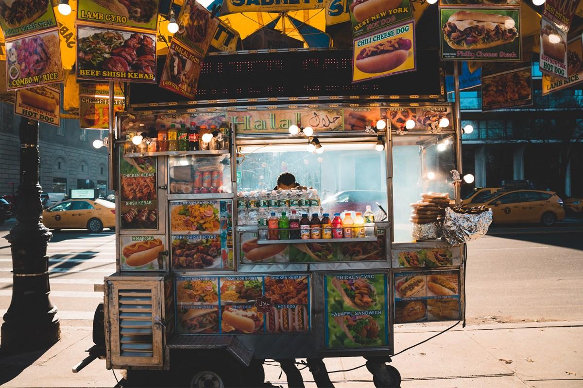 NYC hot dog street vendors