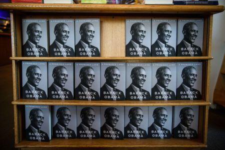 Copies of Barack Obama's new book