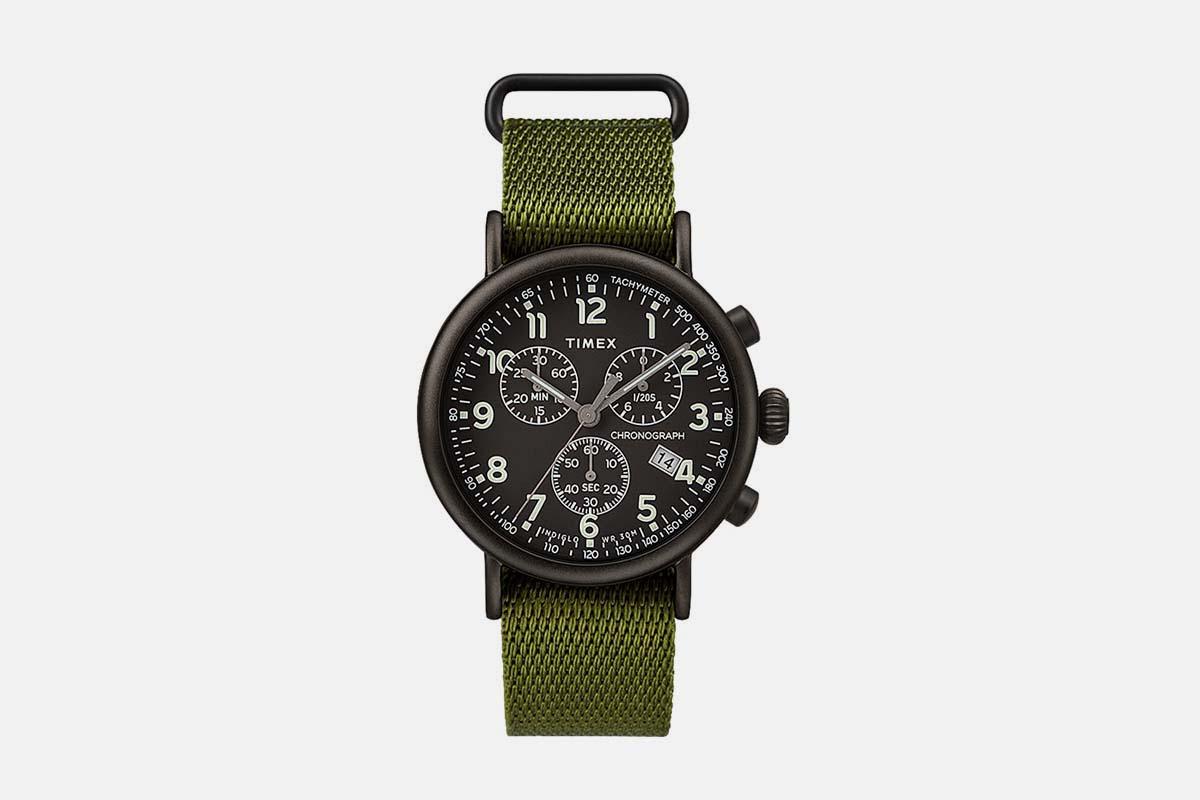 Timex® Standard Chronograph 41mm Fabric Strap Watch