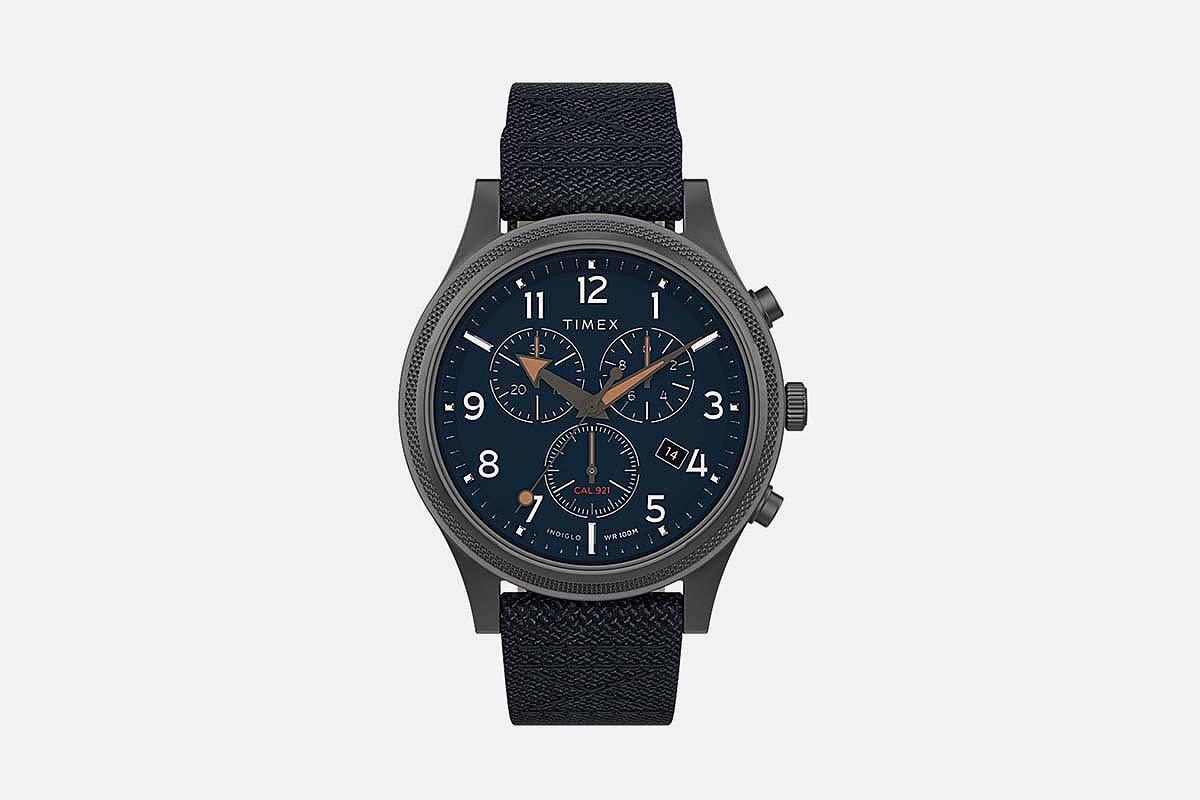 Timex Allied LT Chronograph 42mm Fabric Strap Watch