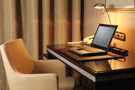 hotel room desk