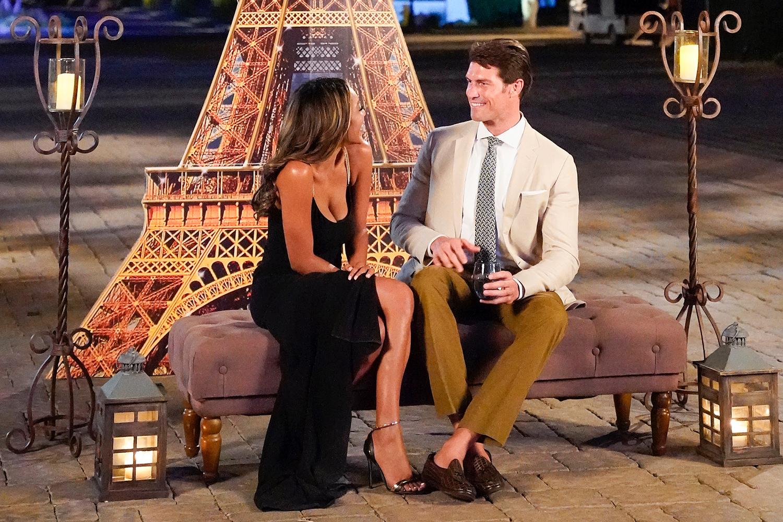Bennett Jordan and Tayshia Adams on The Bachelorette
