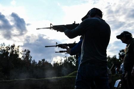 AR-15 semi-automatic rifle shooting course