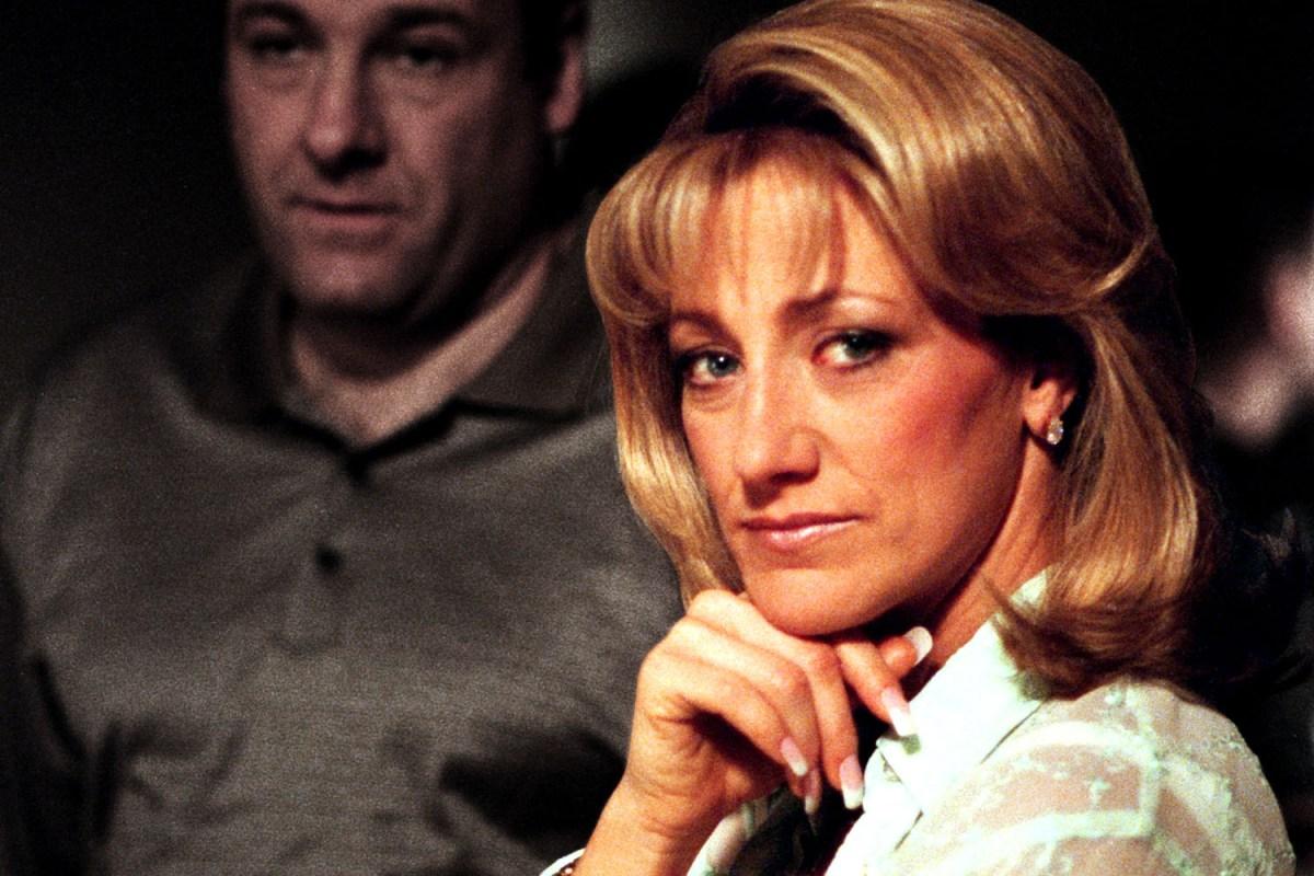 "Carmela Soprano, played by Edie Falco, on ""The Sopranos"""