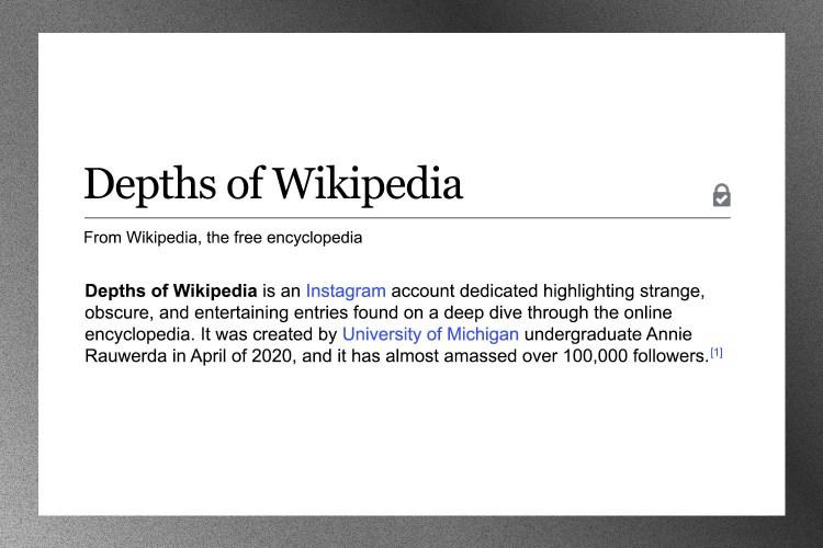 depths of wikipedia