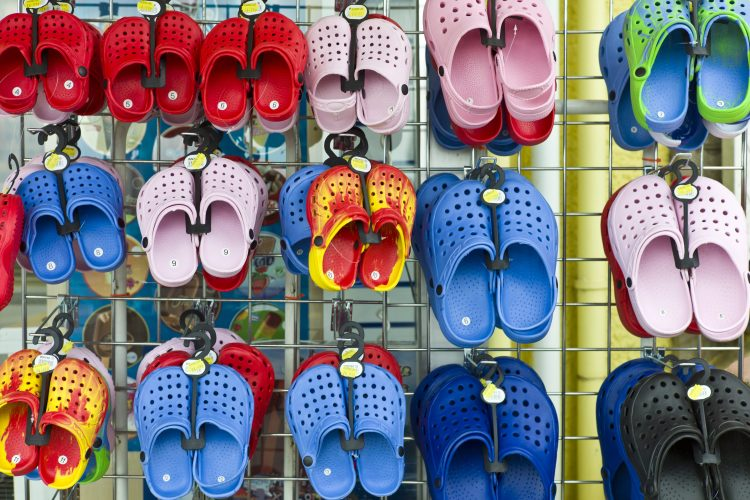 Crocs clogs store display