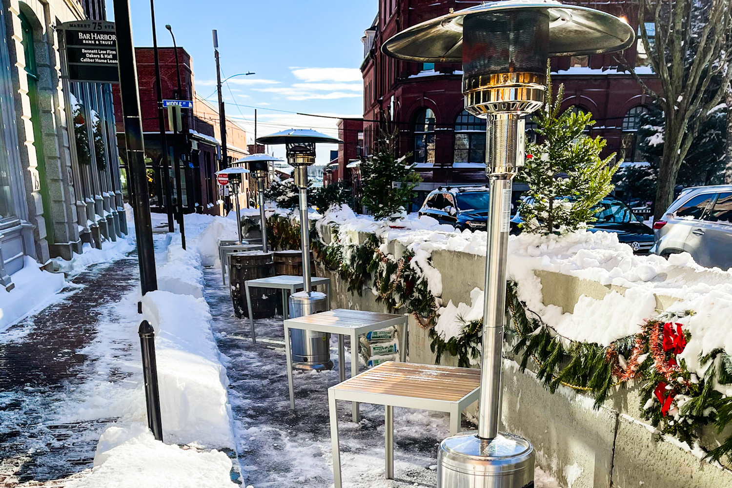Hunt + Alpine Club outdoor seating
