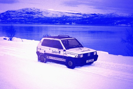 Panda Police Vehicle in the Snow