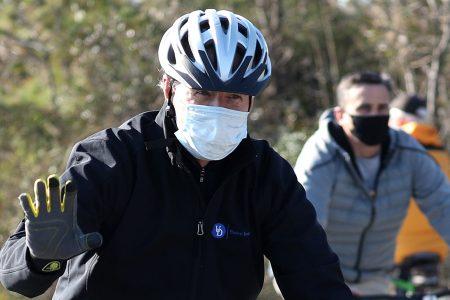 President Joe Biden biking