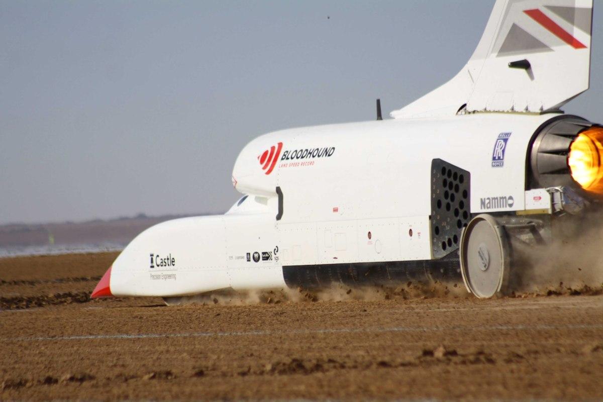 Bloodhound LSR supersonic car