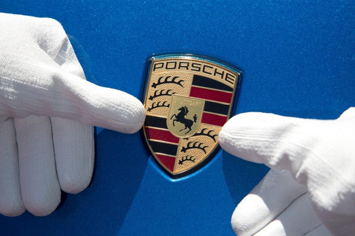 Porsche sports car emblem