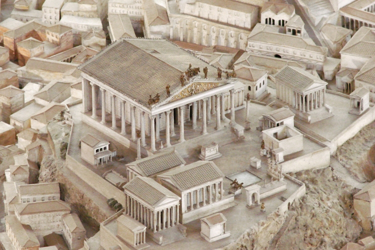 model of Capitoline Hill in Ancient Rome