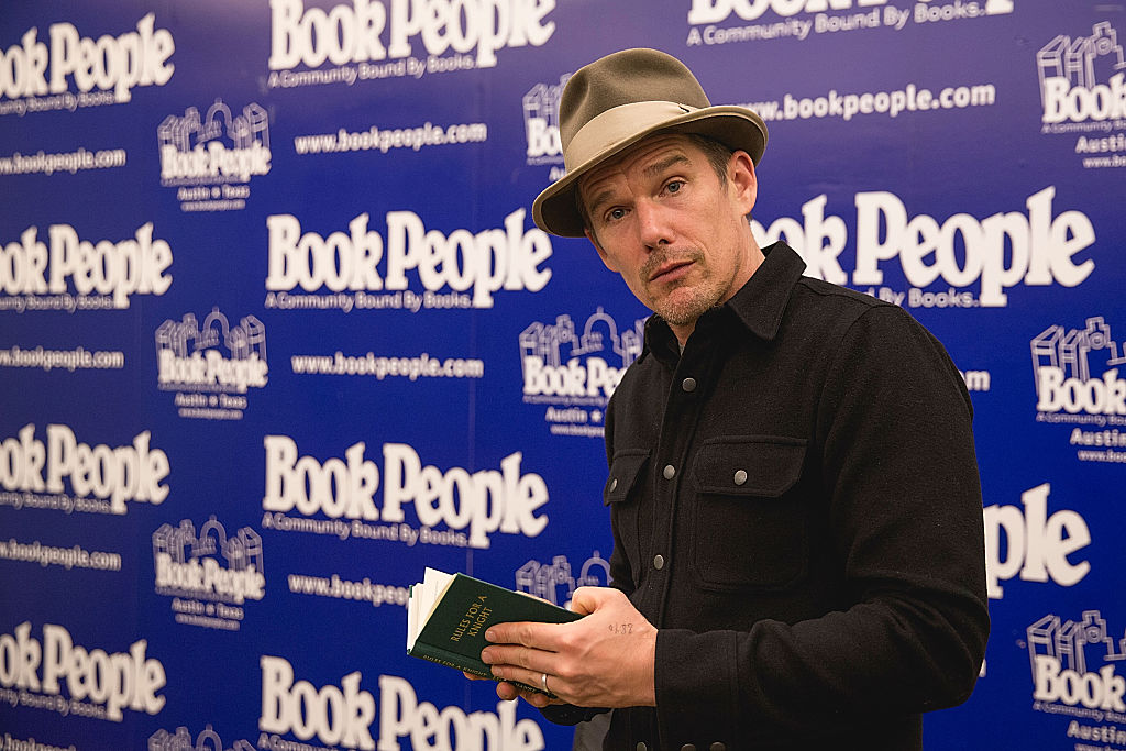 """Ethan Hawke Book Signing For """"Rules For A Knight"""""""