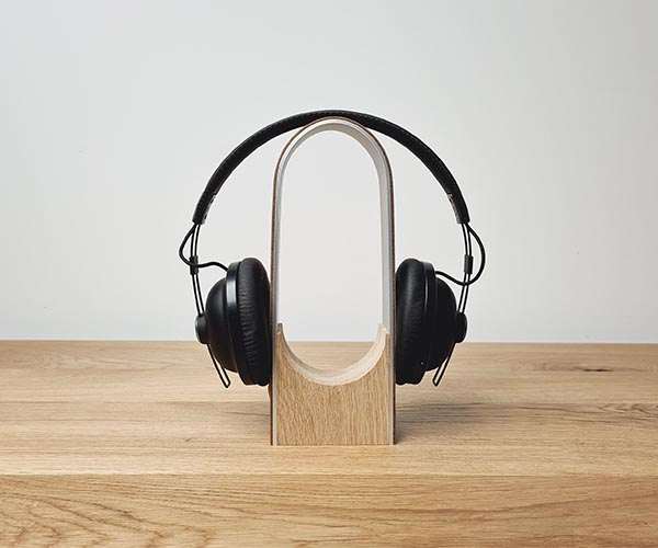 WorkPerch Oak Headphone Stand