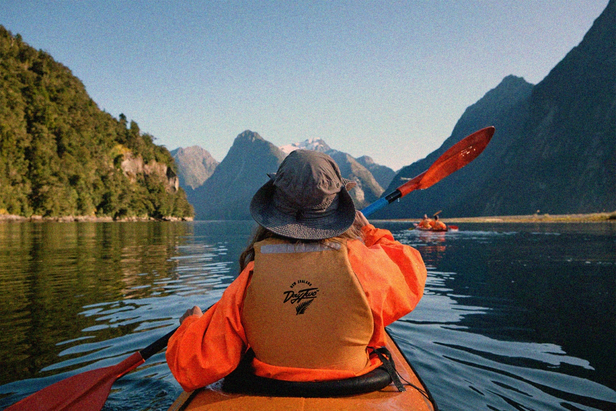 """Kayaking in the Milford Sound today #NewZealand"""